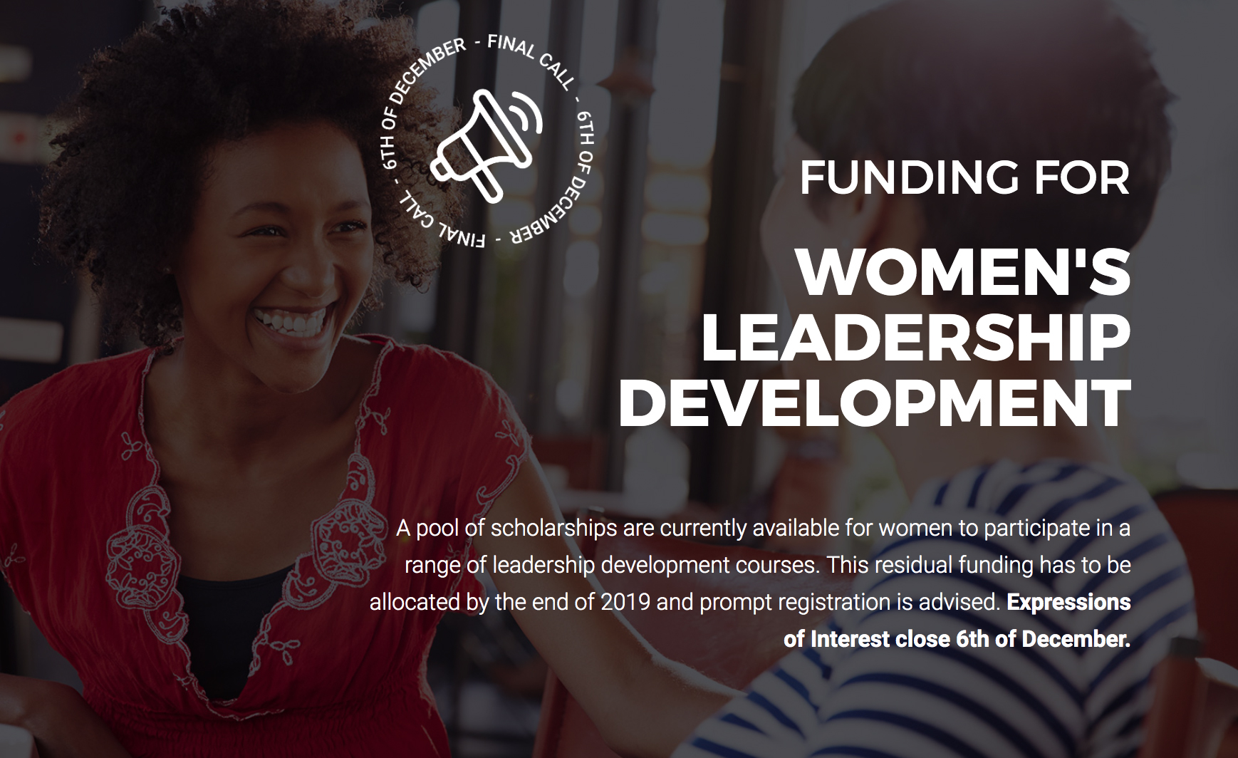 End of Year Funding for Women's Leadership Development