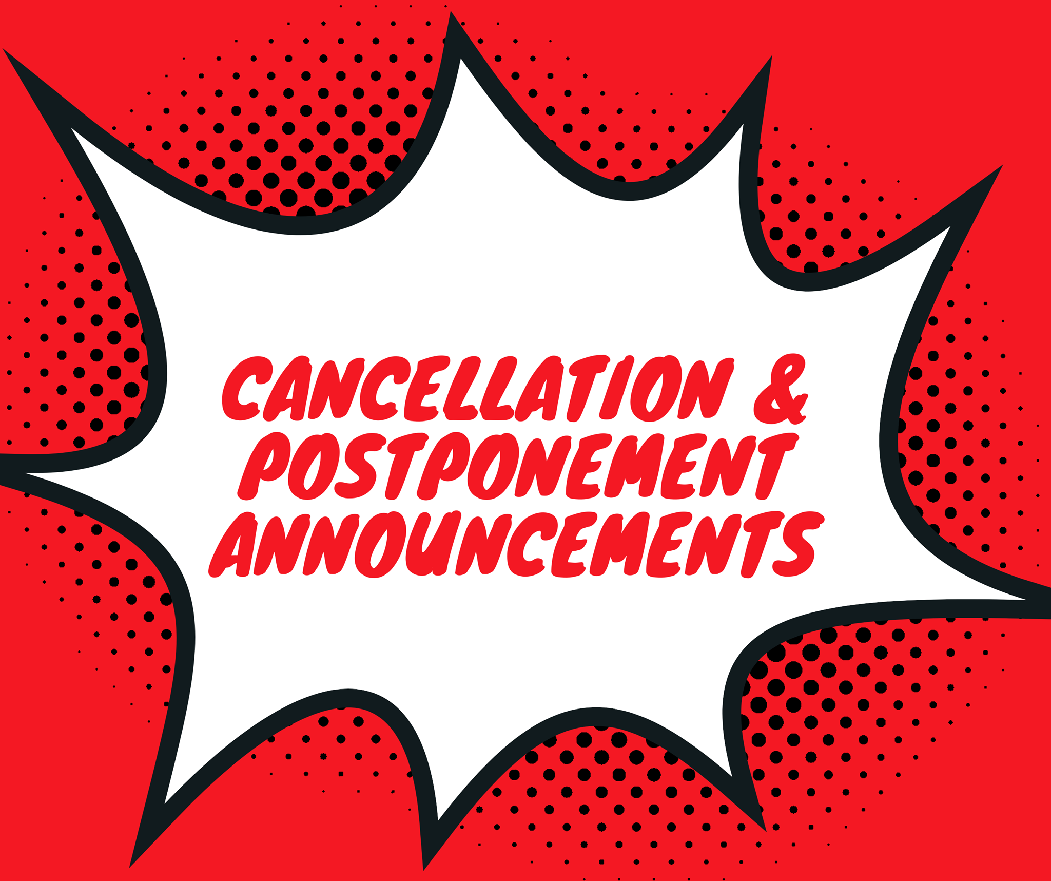 COVID-19: Events cancelled or postponed
