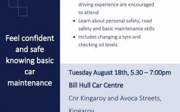 Under the Bonnet: Safer driving workshop