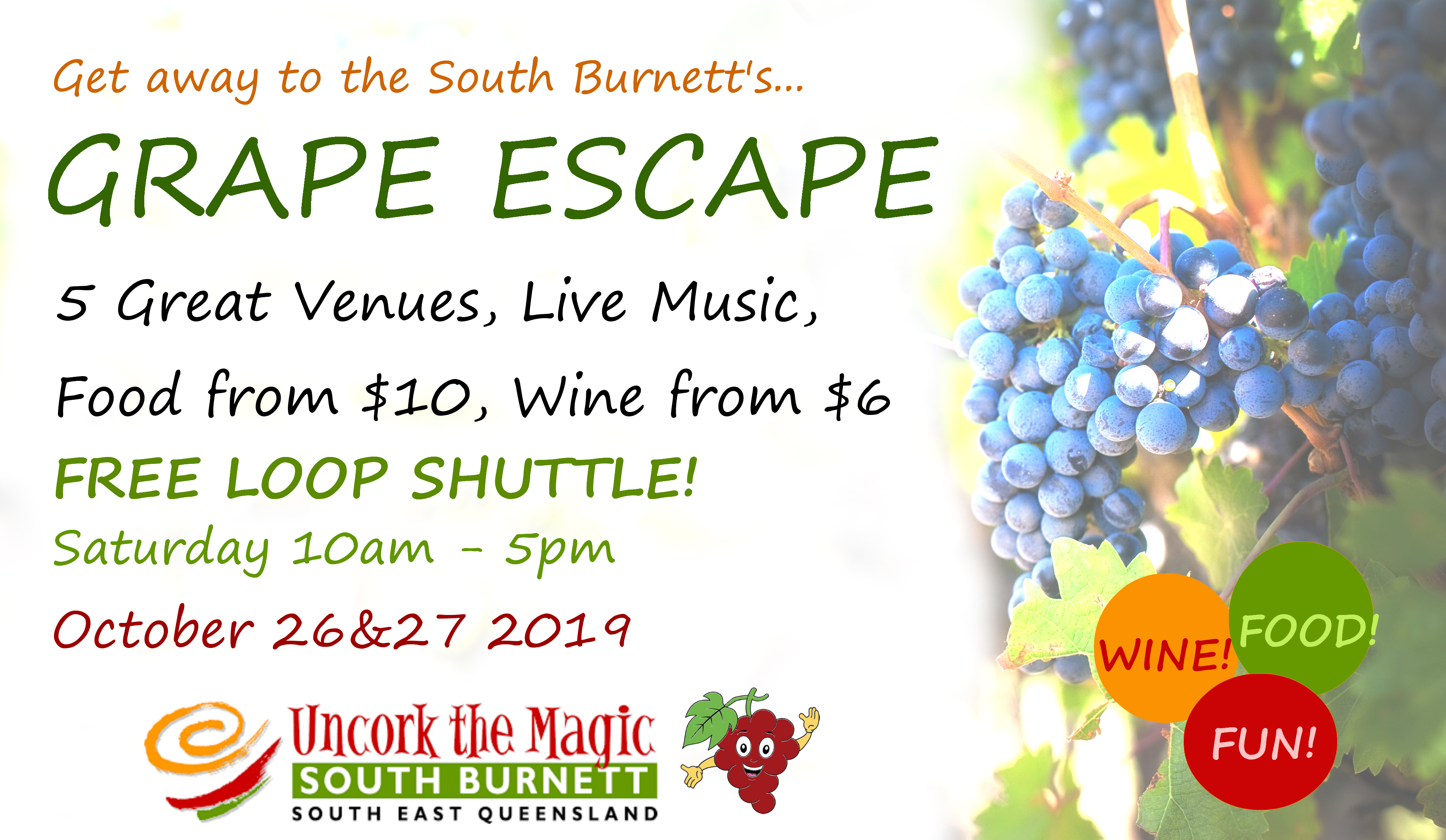 Grape Escape Qld's newest food and wine weekend